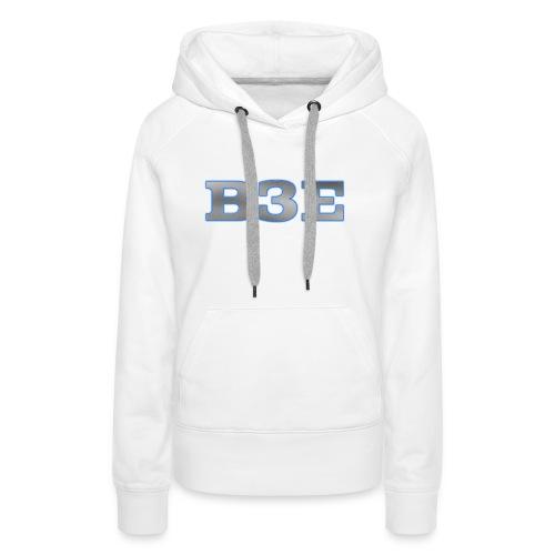 B3E: Logo - GlowingSteel - Women's Premium Hoodie