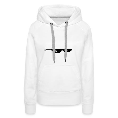 Thug Life Cool Glasses PNG - Vrouwen Premium hoodie
