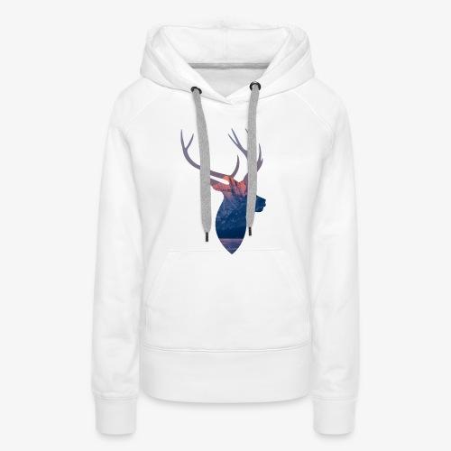 Hirsch T-Shirt - Frauen Premium Hoodie