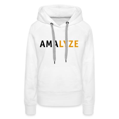 AMALYZE LOGO BLACK - Frauen Premium Hoodie