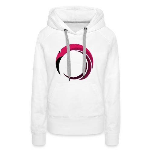 Flamingo! - Sweat-shirt à capuche Premium pour femmes