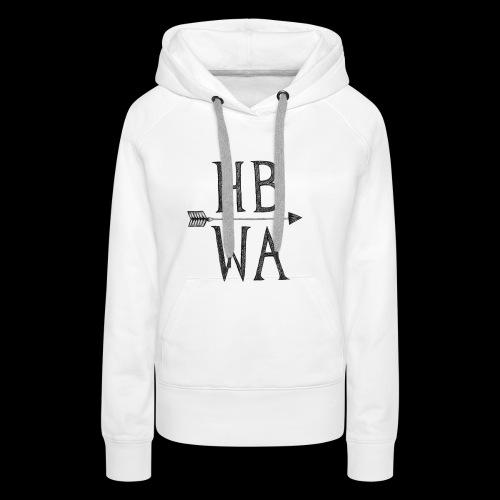 HBWA Logo Schwarz - Frauen Premium Hoodie