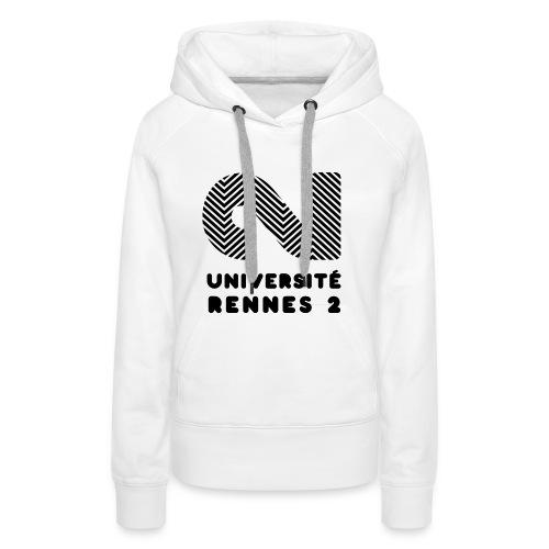 Université Rennes 2 - Sweat-shirt à capuche Premium pour femmes