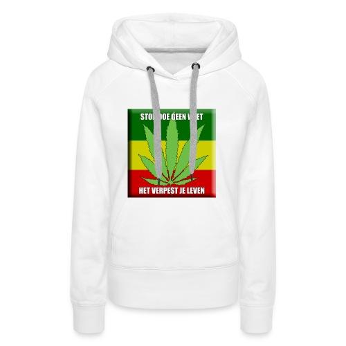 stop met wiet snapback - Vrouwen Premium hoodie