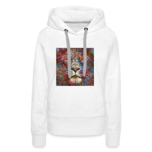 Deep Lion MaxColor CMJN08 - Sweat-shirt à capuche Premium pour femmes