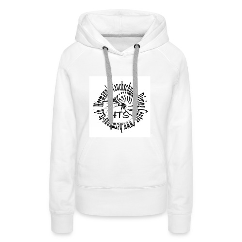 HTS Logo weiss - Frauen Premium Hoodie