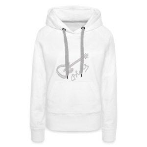 Blues white - Women's Premium Hoodie