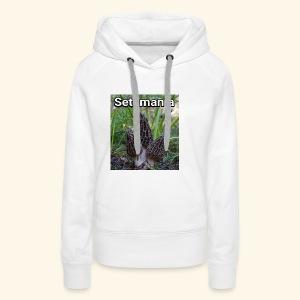 Colmenillas setamania - Sudadera con capucha premium para mujer