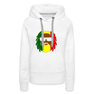 AFROJAZZ RED-GOLD-GREEN - Sweat-shirt à capuche Premium pour femmes