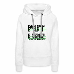 Future Clothing - Green Strips (Black Text) - Women's Premium Hoodie