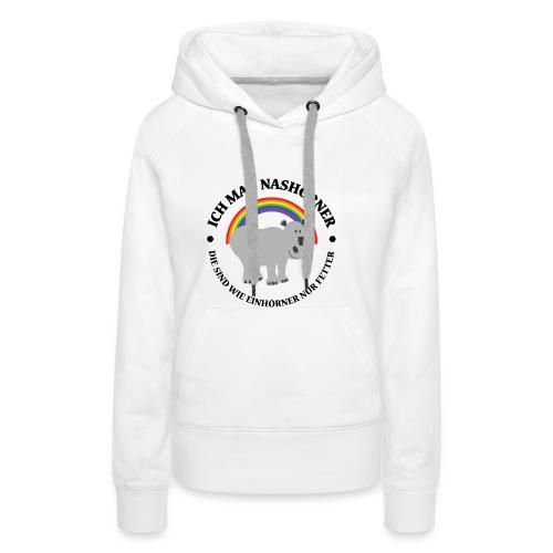 Ich mag Nashörner - Frauen Premium Hoodie