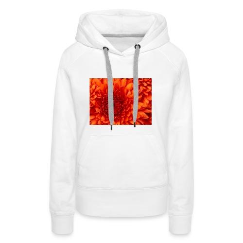Chrysanthemum-jpg - Felpa con cappuccio premium da donna