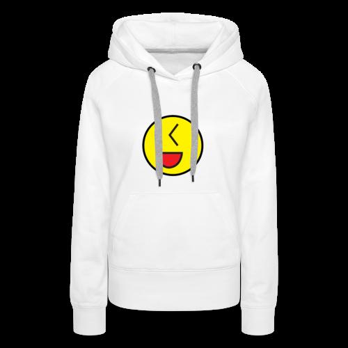 Cool Wink Smiley Hoodie - Women's Premium Hoodie