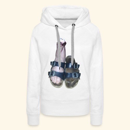 Fuß in Schuh - Frauen Premium Hoodie