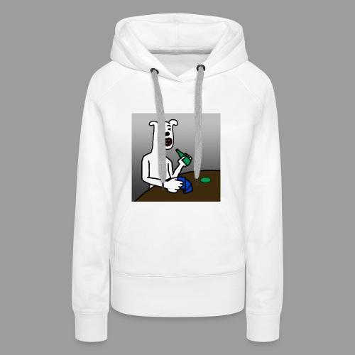 PoopyPoops in het cafe - Vrouwen Premium hoodie
