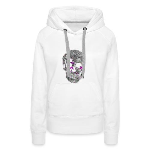 Tête de mort - Sweat-shirt à capuche Premium pour femmes
