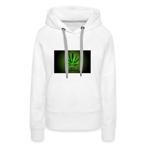 420 hash logo - Dame Premium hættetrøje