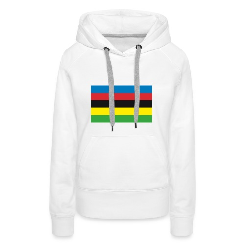 Cycling_World_Champion_Rainbow_Stripes-png - Vrouwen Premium hoodie