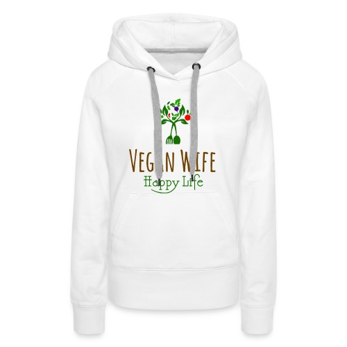VEGAN WIFE - Sweat-shirt à capuche Premium pour femmes