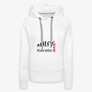 Karate Silhouette - Frauen Premium Hoodie