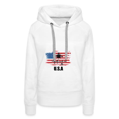 Proud American T-Shirt by Louittor - Frauen Premium Hoodie
