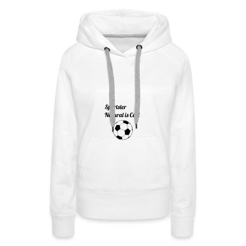 futbol - Sudadera con capucha premium para mujer