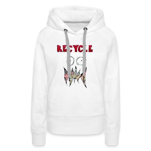 Recycle! - Vrouwen Premium hoodie