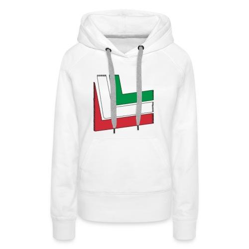 T-shirt Italia - Felpa con cappuccio premium da donna