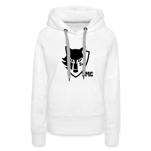 loup noir - Sweat-shirt à capuche Premium pour femmes
