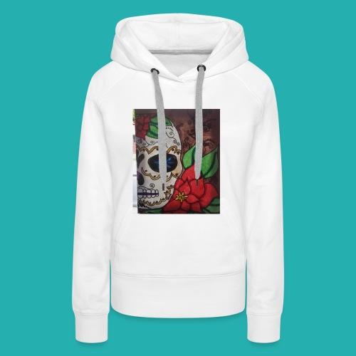 flower-skull - Women's Premium Hoodie