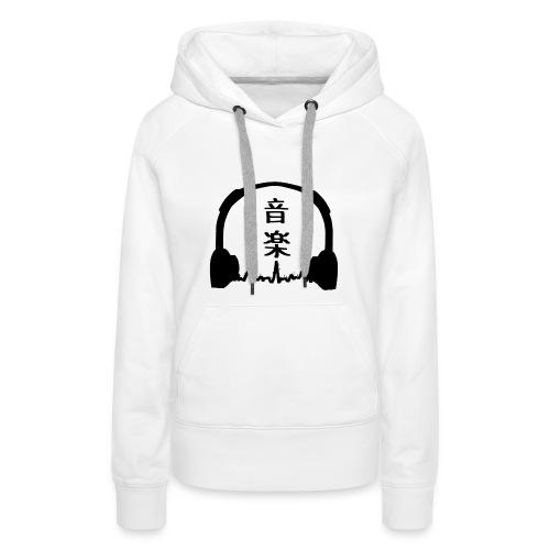 Ongaku - Sudadera con capucha premium para mujer