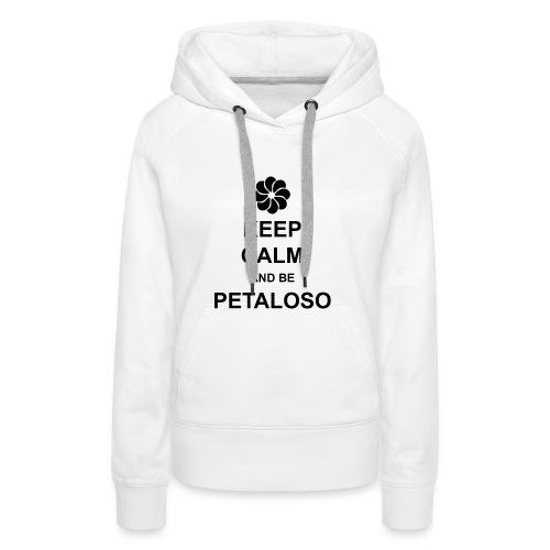 MAGLIA_BIANCA_PETALOSO-png - Felpa con cappuccio premium da donna
