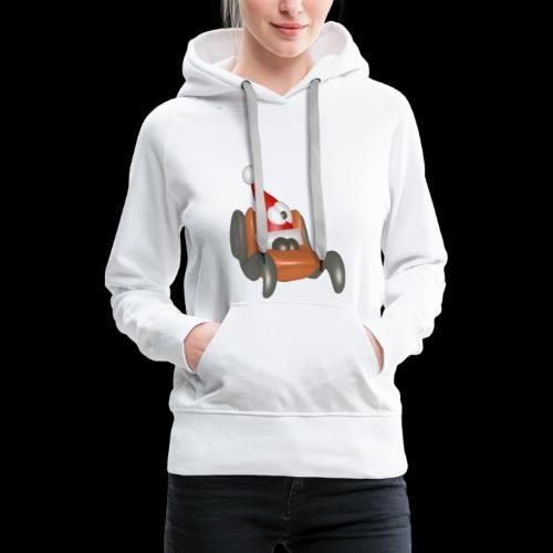 luge noel - Sweat-shirt à capuche Premium pour femmes