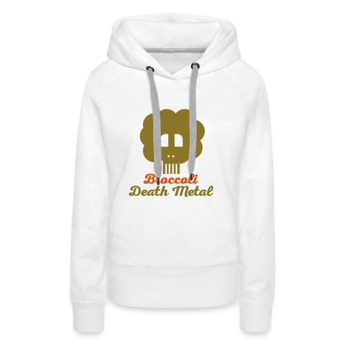 broccoli_death_metal_-10--ai - Frauen Premium Hoodie