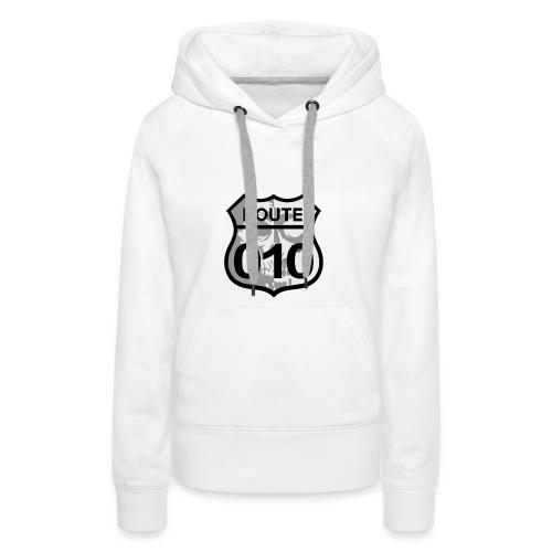 ROUTE-O10-skull-rugpatch-2-png - Vrouwen Premium hoodie