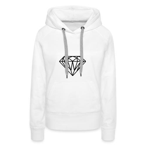 Diamante - Felpa con cappuccio premium da donna