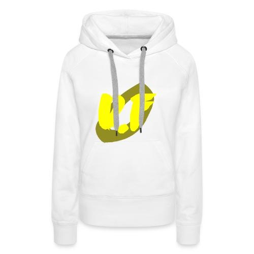 camiseta pico logo UF amarillo - Sudadera con capucha premium para mujer