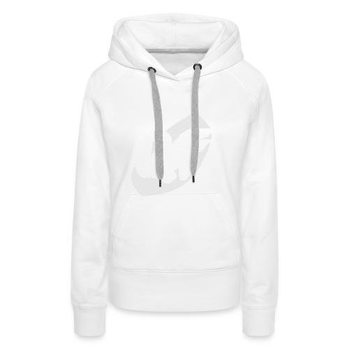 camiseta pico logo UF blanco - Sudadera con capucha premium para mujer