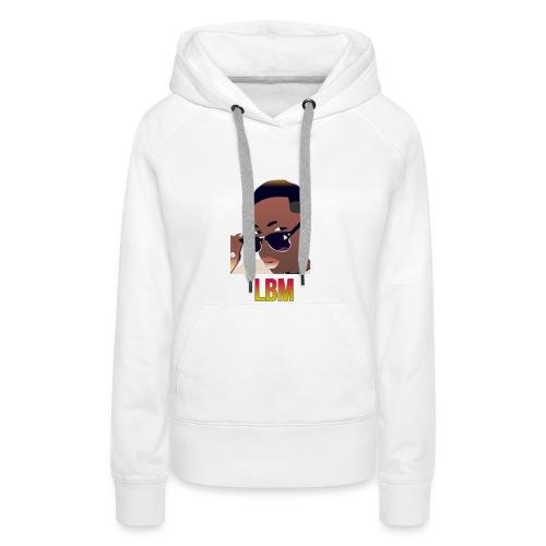 Logo et écriture Lbm - Sweat-shirt à capuche Premium pour femmes