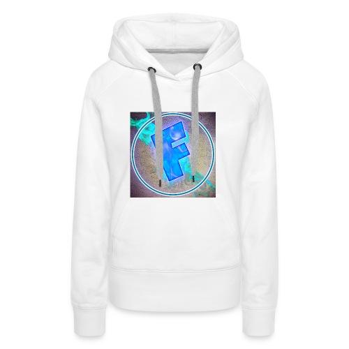 logo flowing82 v3 1 - Sweat-shirt à capuche Premium pour femmes