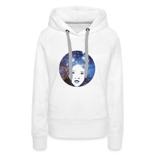 Afro Galaxie - Sweat-shirt à capuche Premium pour femmes