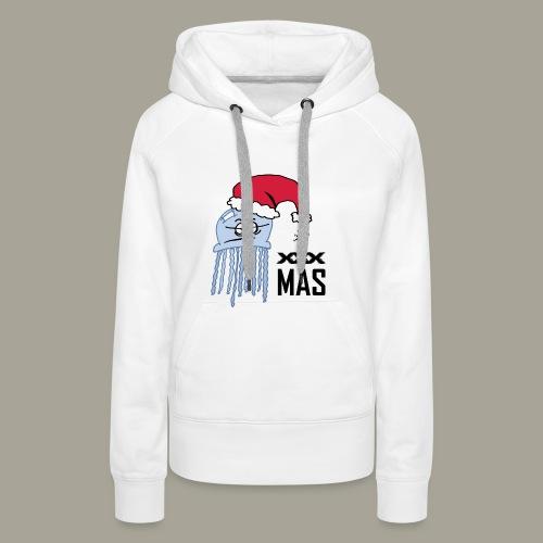Qualle mit Weihnachtsmütze X MAS - Frauen Premium Hoodie