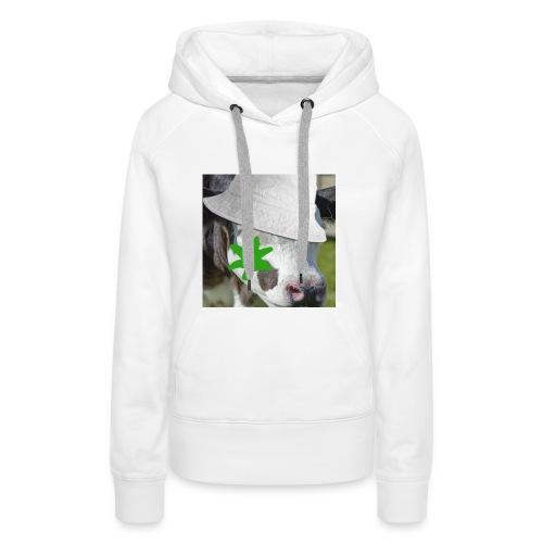 brouteuse - Sweat-shirt à capuche Premium pour femmes