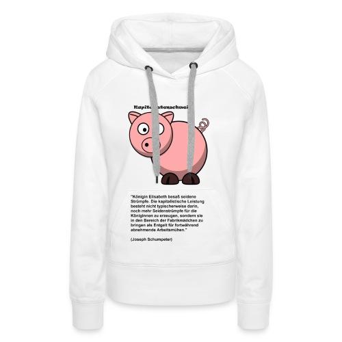 Kapitalismus Schwein weiß - Frauen Premium Hoodie