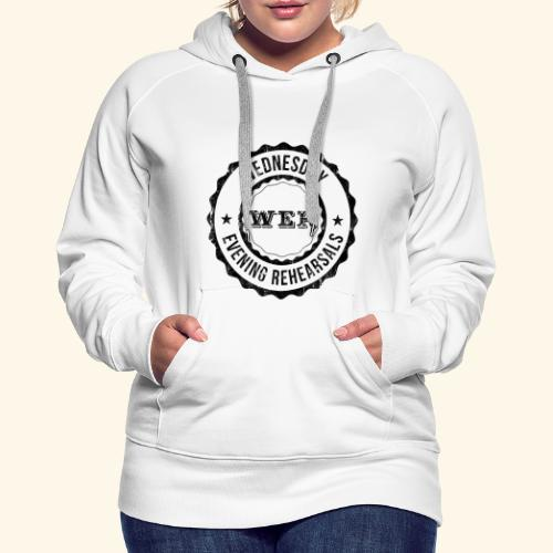WER OFFICIAL BLACK - Sweat-shirt à capuche Premium pour femmes