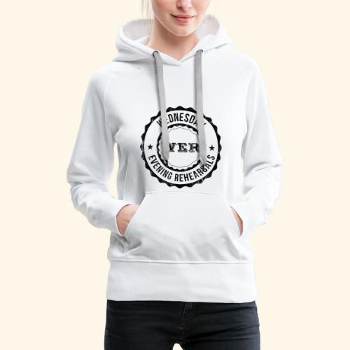 WER OFFICIAL BLACK - Sweat-shirt à capuche Premium pour femmes