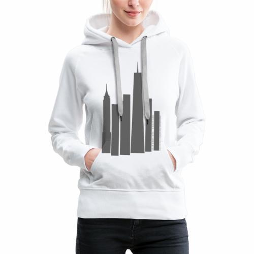 Downtown NYC - Sweat-shirt à capuche Premium pour femmes
