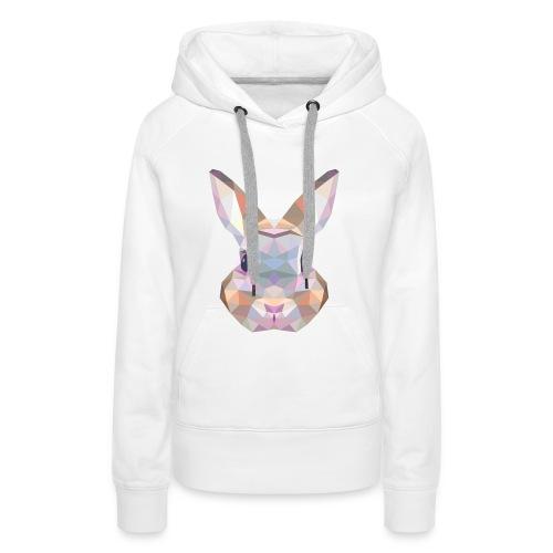Triangle vector bunny - Felpa con cappuccio premium da donna