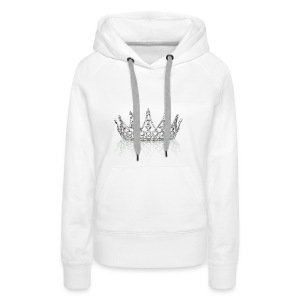 Queen crown design - Women's Premium Hoodie