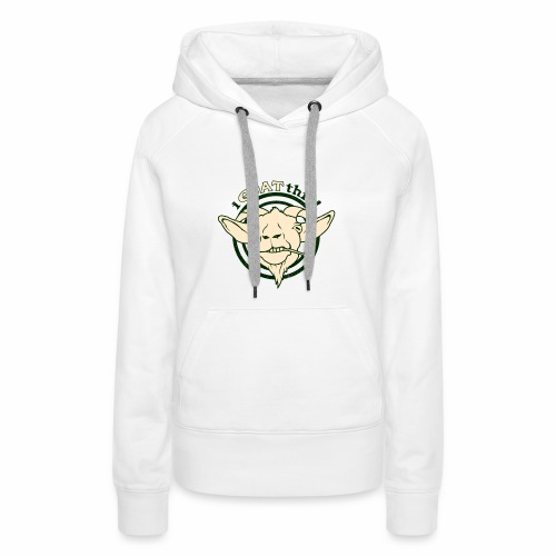 Funny Play on Words Goat Animal - Women's Premium Hoodie